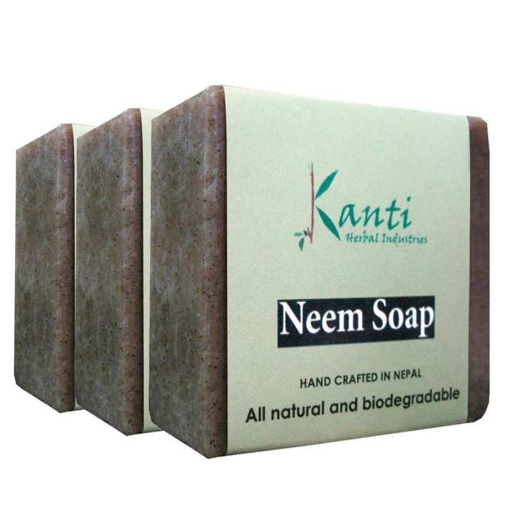 Kanti Herbal Pack Of 3 Neem Bar Soap – 80g