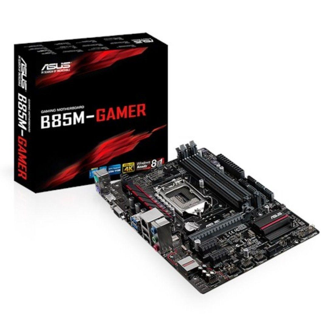 ASUS B85M-GAMER Gaming Motherboard With LANGuard, SupremeFX Audio, Gamer's  Guardian Components & AI Suite 3