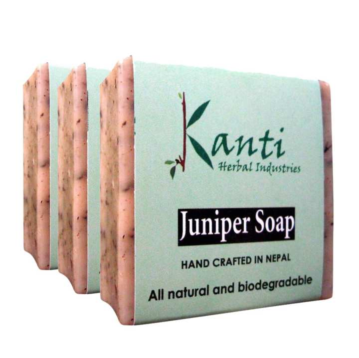 Kanti Herbal Pack Of 3 Juniper Soap – 80g