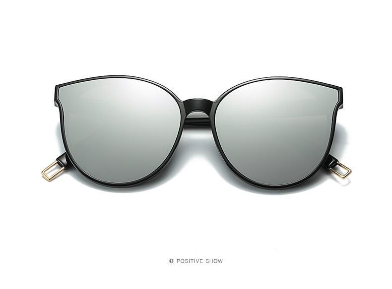 3e7cbbe6d5 GM Round Lens Cat Eye Sun Glasses For Women - Silver