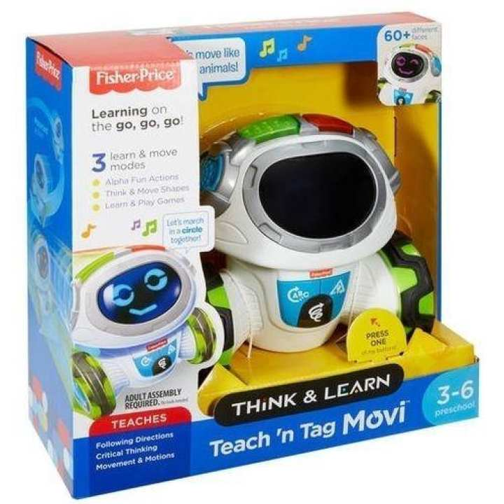 Fisher Price DRN78 Think & Learn Teach 'N Tag Movi - White