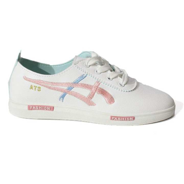 White Lace Up Sneakers For Women