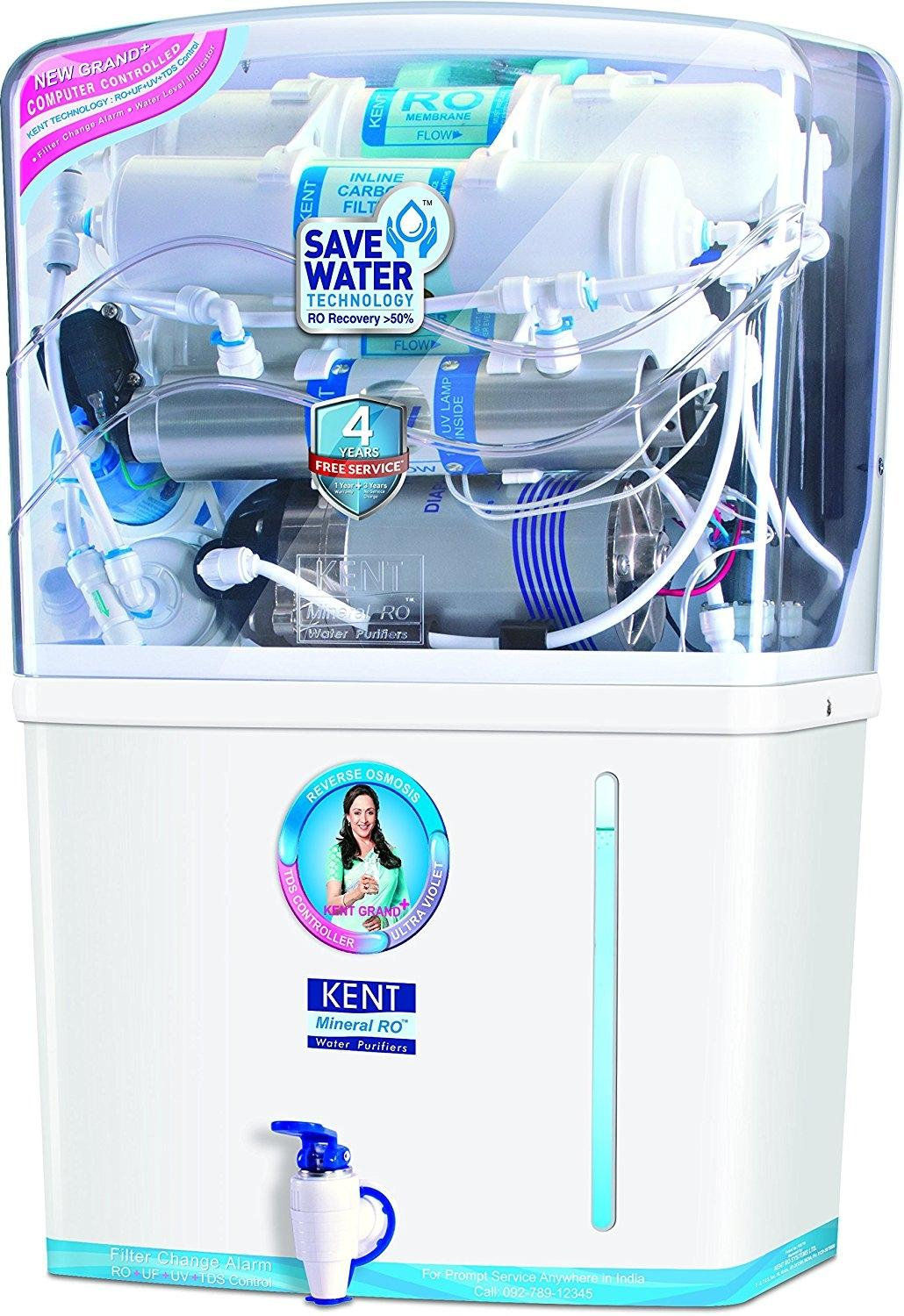 fe38833cb49 Kent Grand Plus 8-Litre Mineral RO + UV UF With TDS Controller Water