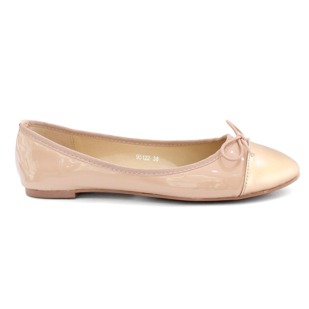 309158a020f3 DMK Blush Pink Round Pump Flat Shoes For Women - 95122