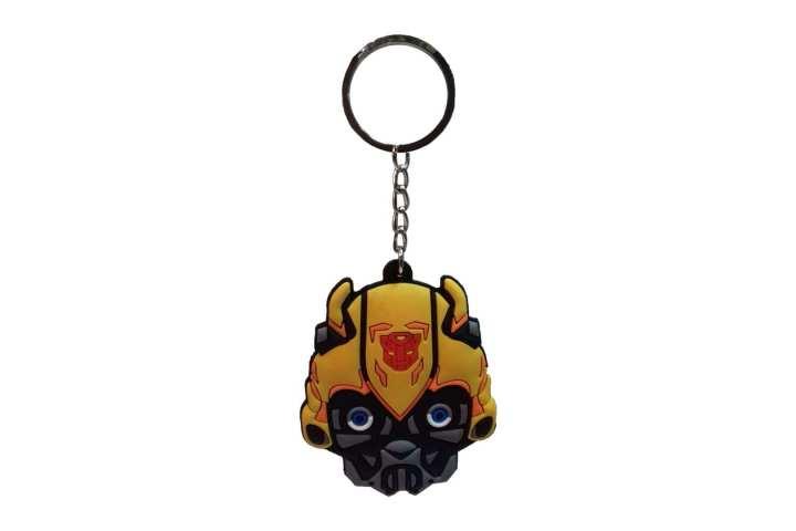 Yellow/Black Rubber Transformer Keychain (A)