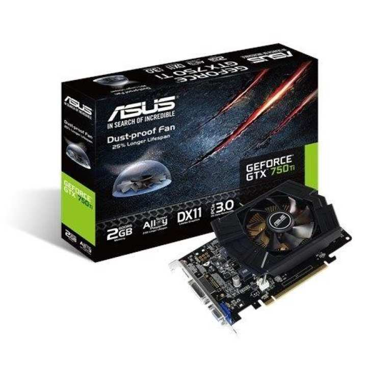ASUS GTX750TI-PH-2GD5 [GTX750, 1137 MHz, Nvidia Chip, VGA, DVI, HDMI] Graphics Card
