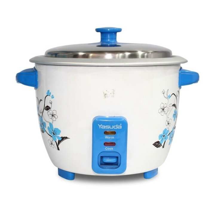 Yasuda YS-1180X 1.8 Ltr Automatic Cooking Rice Cooker - White/Blue