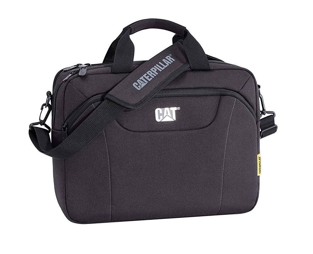Cat Black Laptop Messenger Bag For Men (CAT83477-01BLK) 847ff9e676d9c