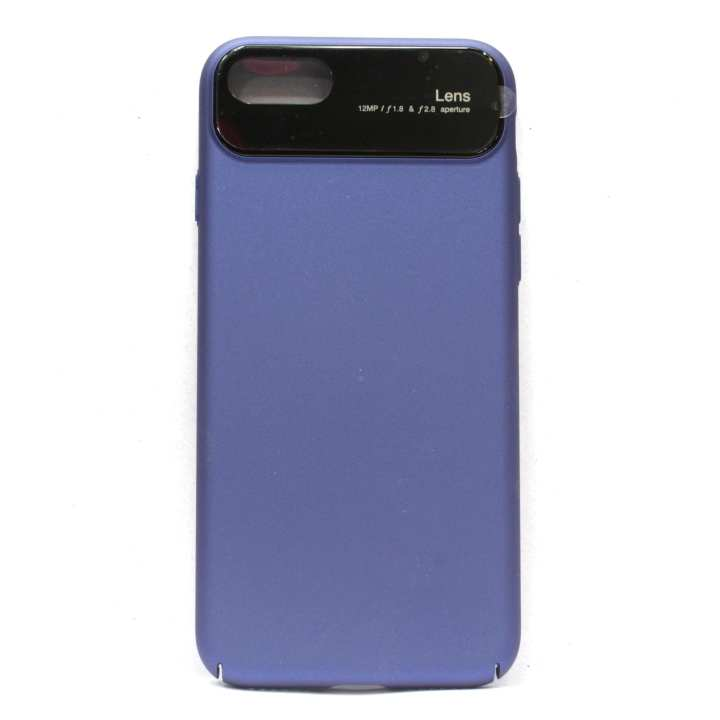 Plain Mobile Cover For Iphone 8 - (Blue)