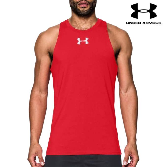 302debc00bb12 Under Armour Red Baseline Performance Basketball Tank Top For Men -  1293825-600