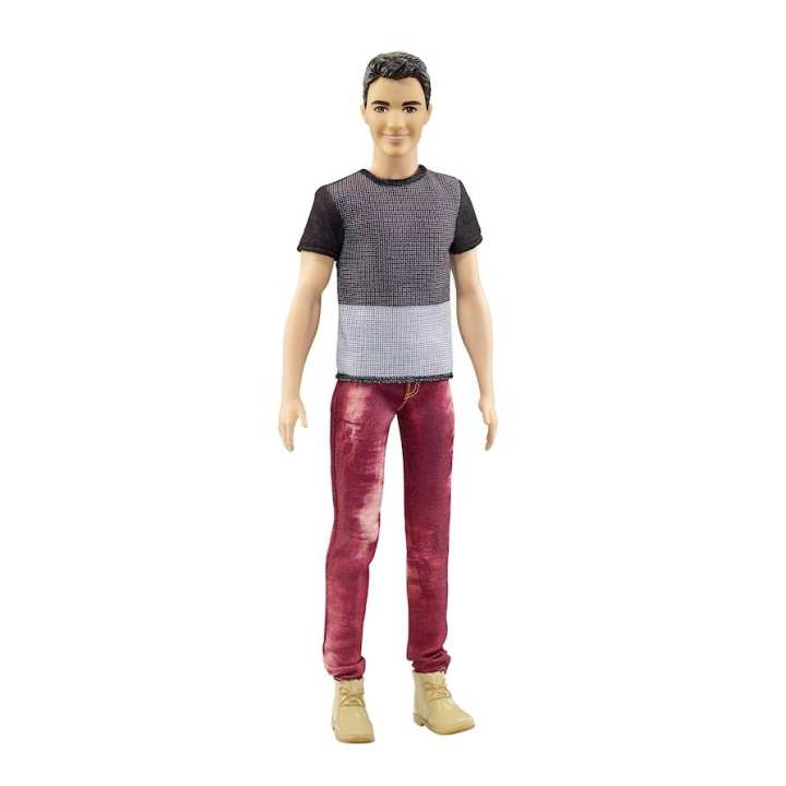 Barbie Multicolored Ken Fashionista Collectible With Red Pants - DWK44