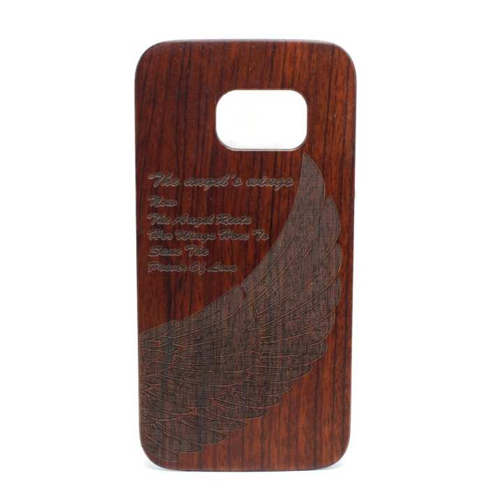Wooden Brown Wings Printed Mobile Case For Samsung Galaxy S7
