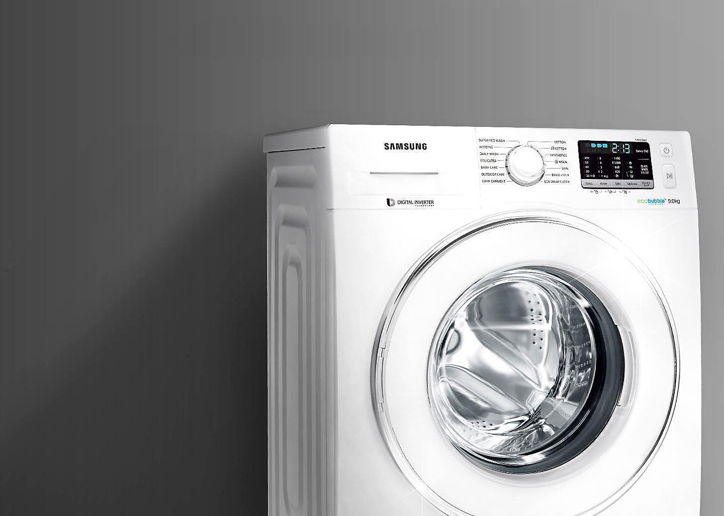 Washing machine with elegant design