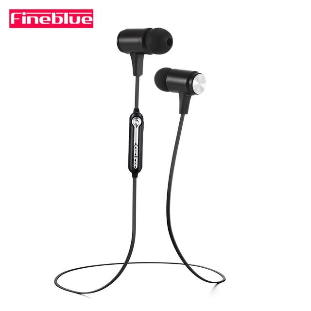 68fecd5dd26 FINEBLUE Wireless Bluetooth Headset Magnet Earphone Stereo With Earpieces