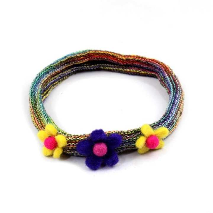 Multicolored Floral Designed Hairband For Women