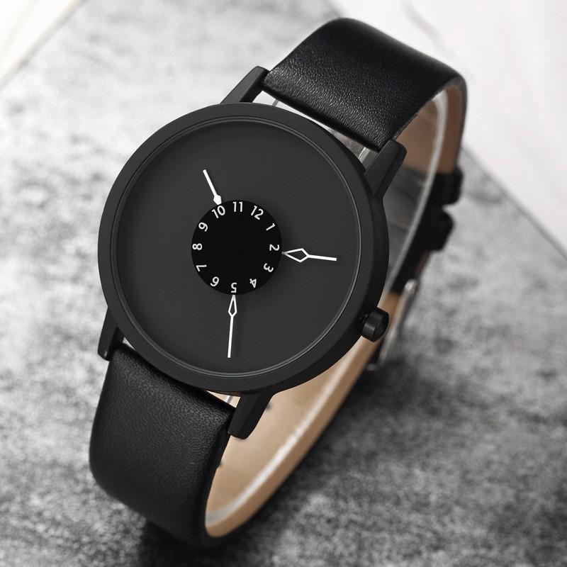 PAIDU Black Turntable Casual Unisex Watch