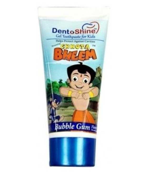 DENTOSHINE Bubble Gum Flavored Gel Toothpaste- 80g