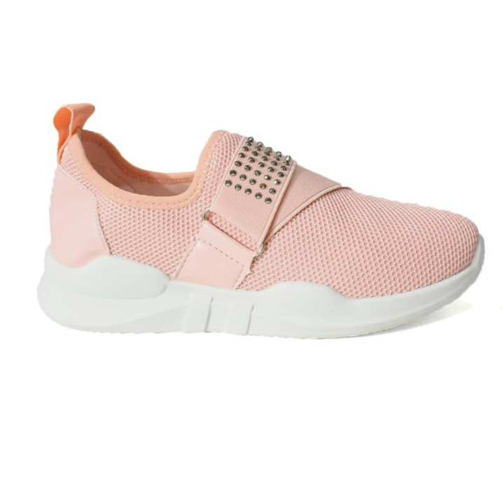 Peach Studded Sneakers For Women