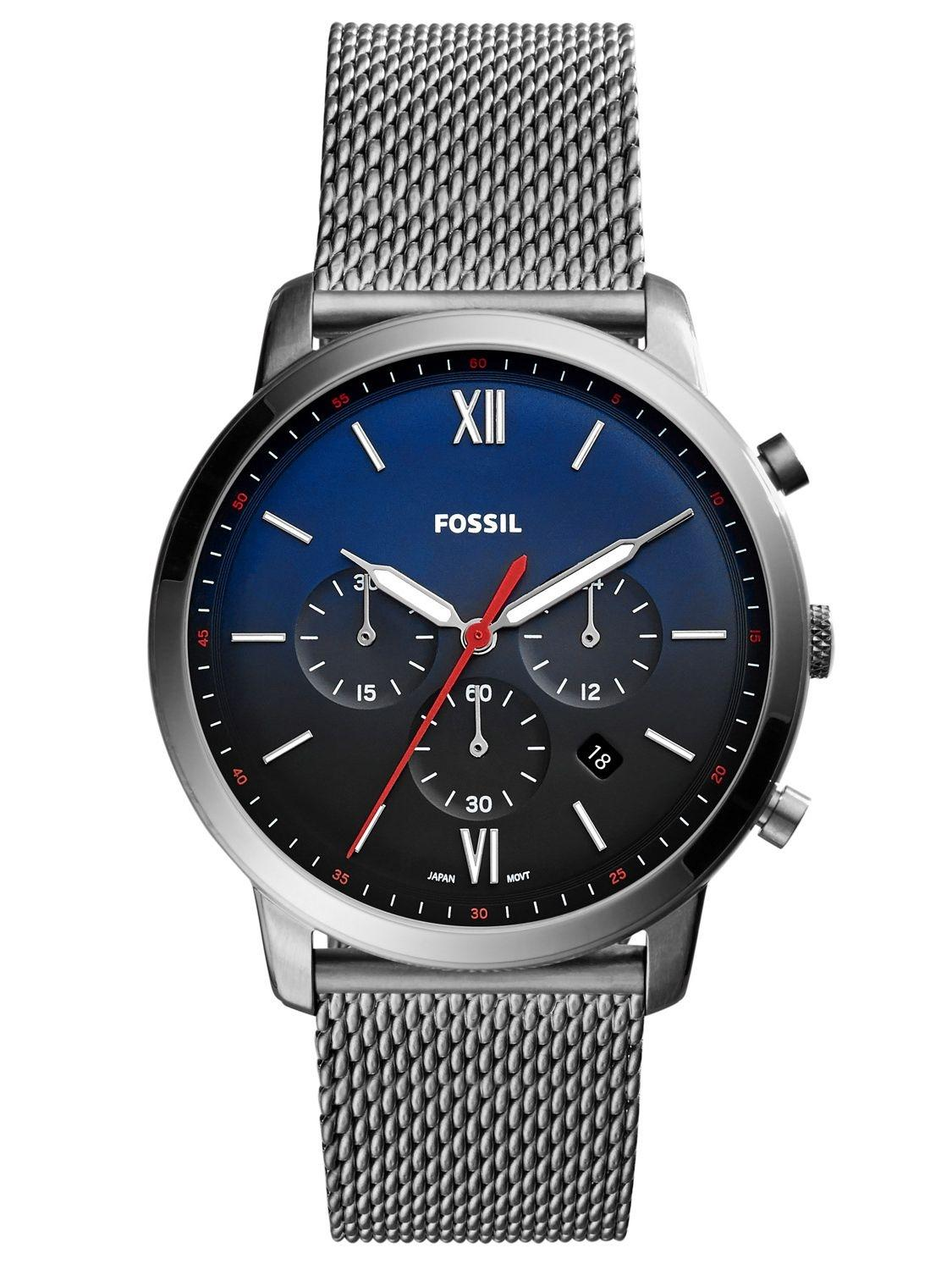 Fossil Es3707 Jacqueline Gray Leather Watch Rose Gold Buy At Best Price In Nepal Daraz Neutra Blue Dial Chronograph For Men Fs5383