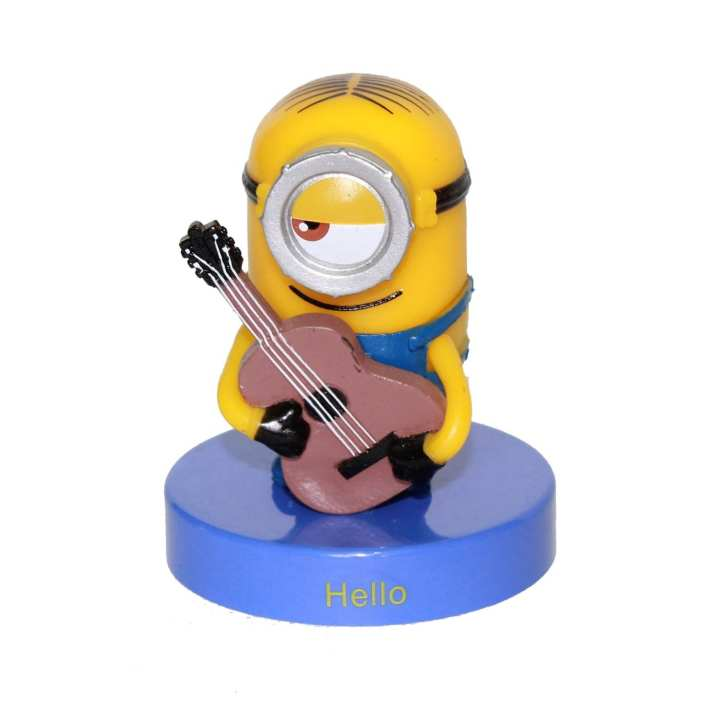 Yellow/Blue Plastic  Minion Playing Guitar Toy For Kids