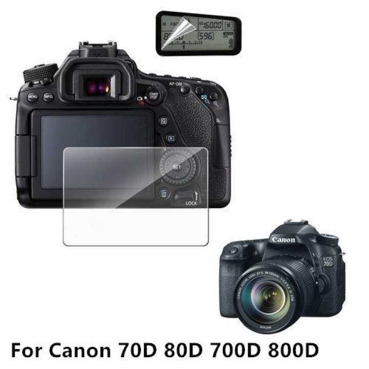 Tempered Glass With Shoulder Screen Protector For Canon 70D 80D 700D 800D