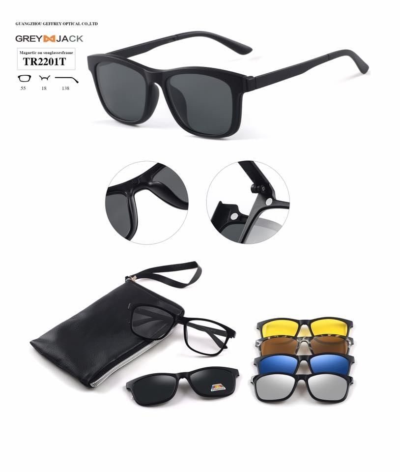 bb46832a259 GREY JACK 5 Magnetic Interchangeable UV Protected Lens With Polarized  Sunglasses