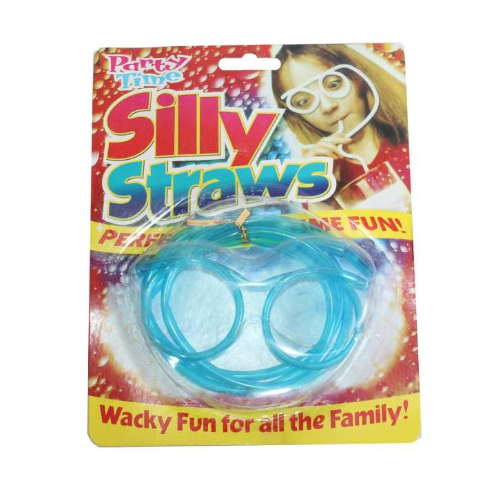 Blue Silly Party Straw