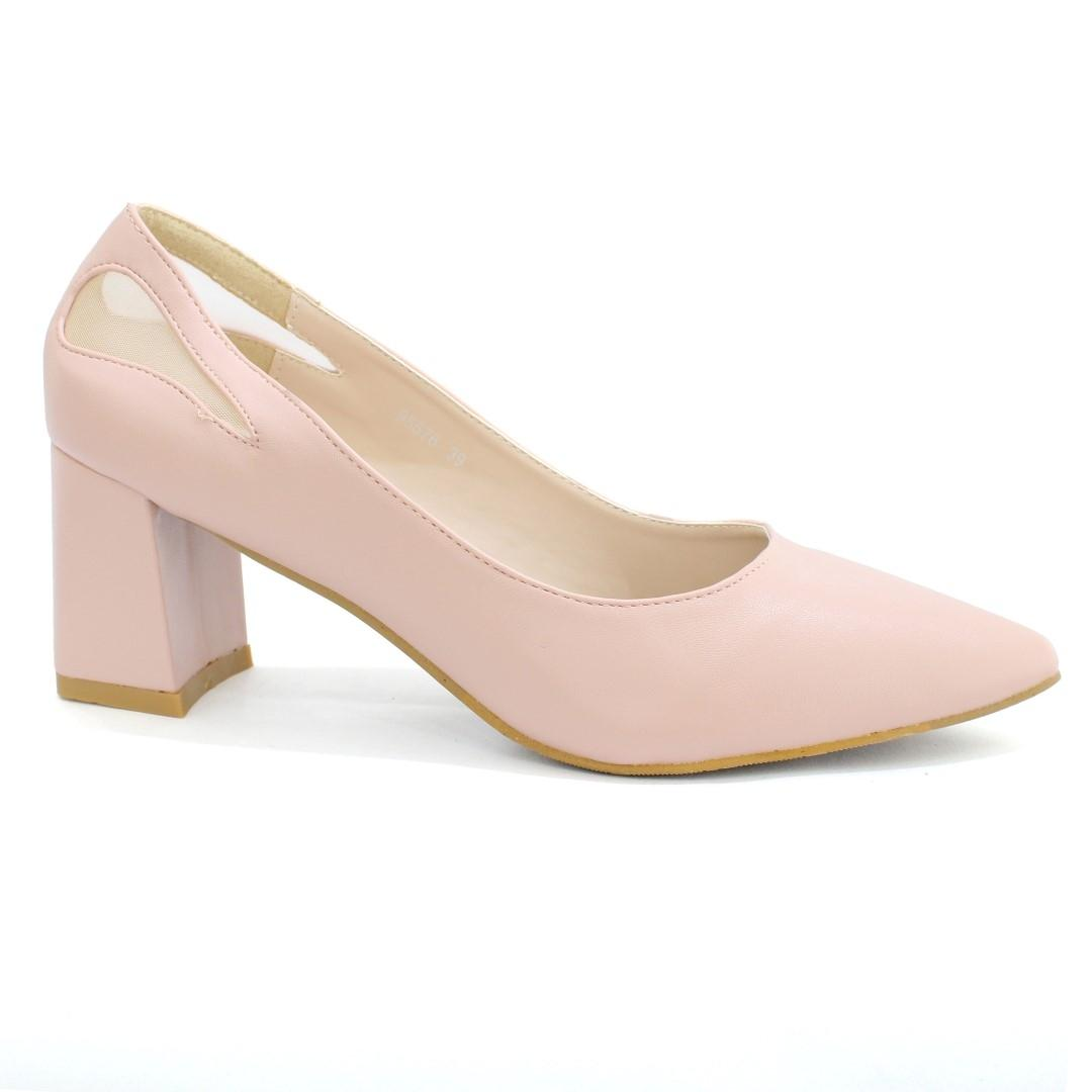 0046474f9a03 DMK Baby Pink Pointed Pump Block Heel Shoes For Wpmen - 98676  Buy Online  at Best Prices in Nepal