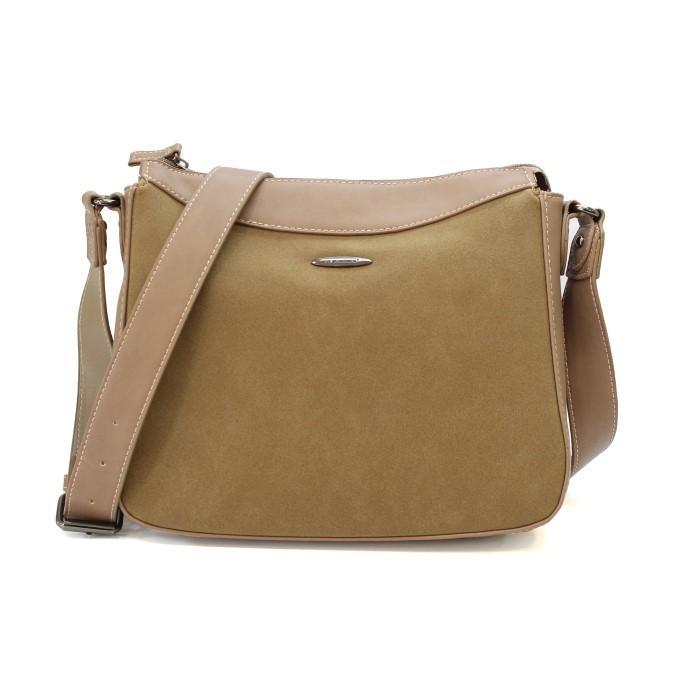 David Jones Tortilla Brown Zippered Cross Body Bag For Women - 5612-1 6caa64f1a5293
