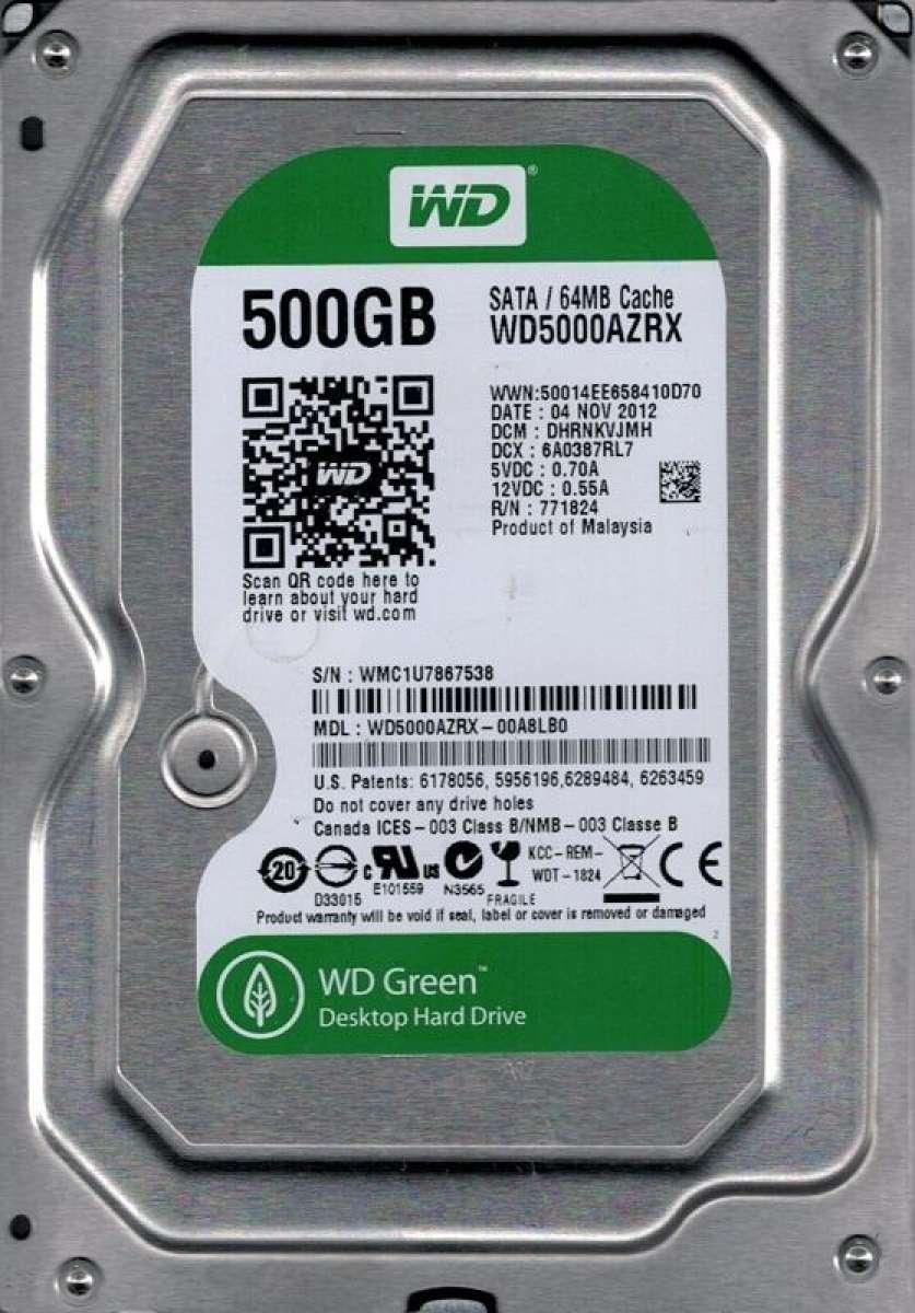 Western Digital WD5000AZRX 500 GB SATA Hard Disk