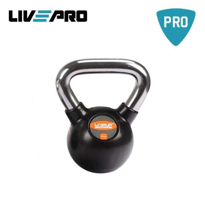 LivePRO LS2044  12KG Rubber Kettlebell- Black