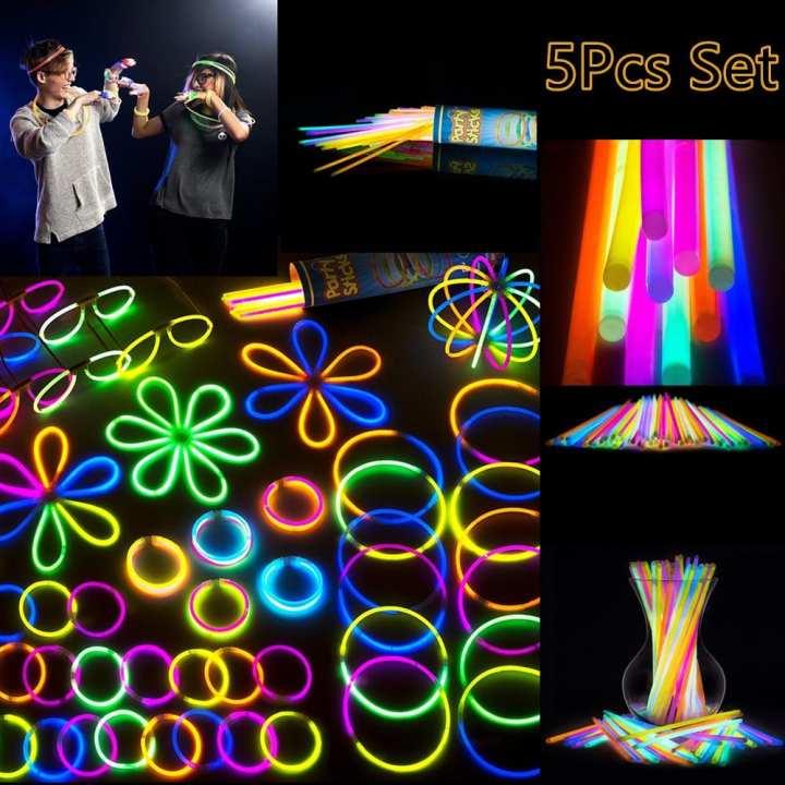 5 Pieces Premium Glow In The Dark Light Sticks
