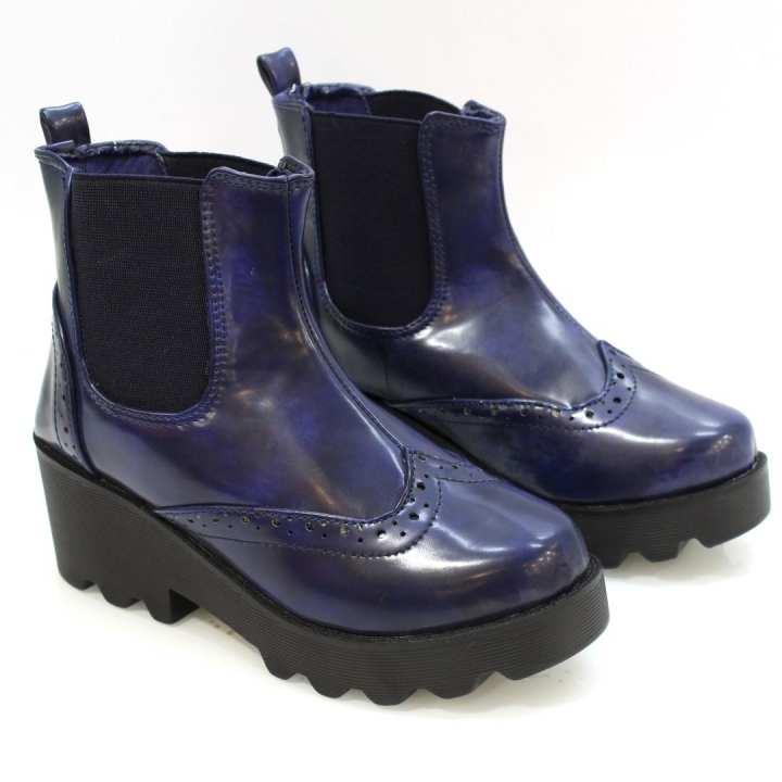Shoe.A.Holics Blue XIMENA Short Lifestyle Boots For Women