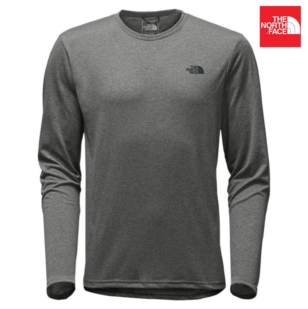 The North Face A9HR Long Sleeves Reaxion Amp Crew T-Shirt For Men- Grey
