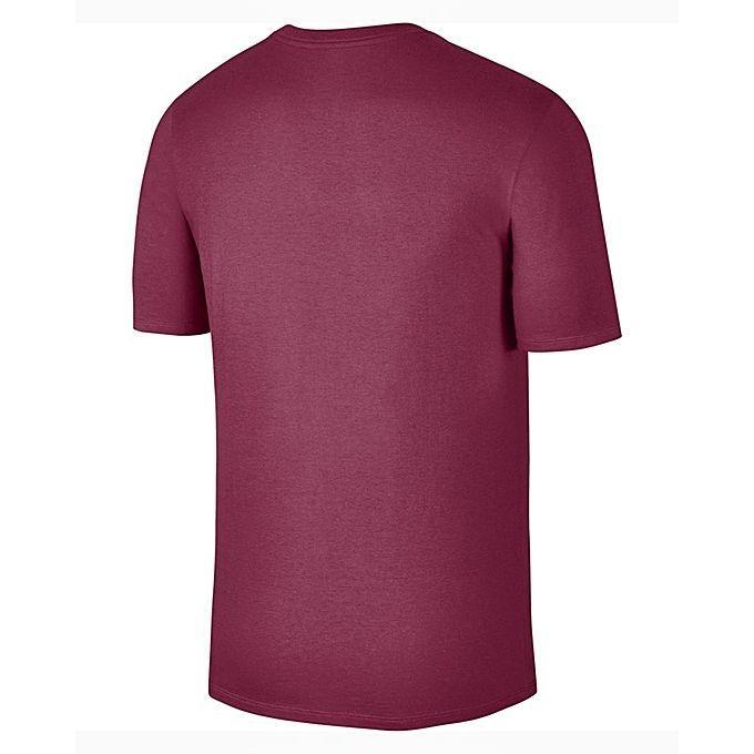 Nike Maroon Printed T-Shirt For Men- 875639-620