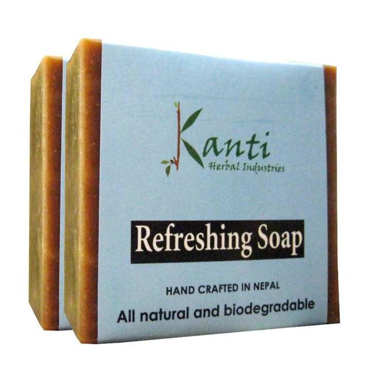 Kanti Herbal Pack of 2 Refreshing Bar Soap – 80G