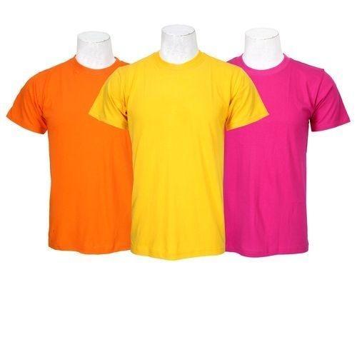 9d28f36de Pack Of 3 Plain 100% Cotton T-Shirt For Men-Orange/Yellow