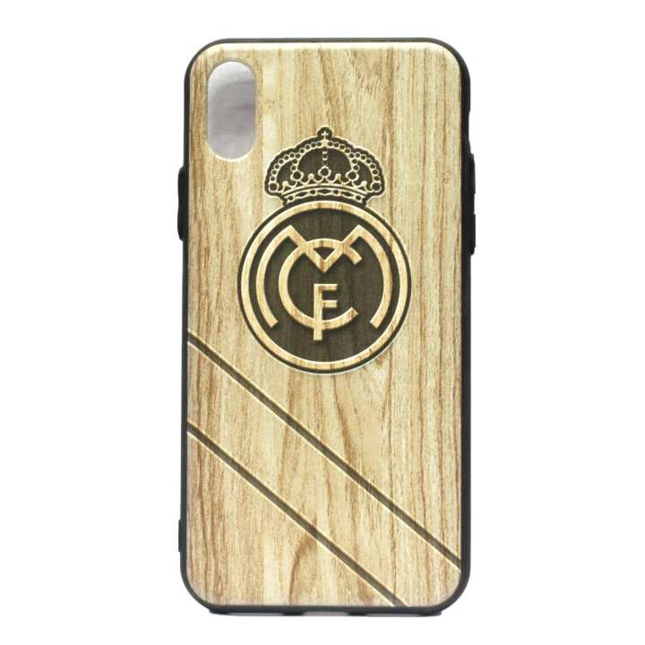Real Madrid Logo Printed Mobile Cover For Iphone X - (Brown)