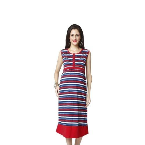 23b98b16c75 Nine Maternity Multicolored Striped Nursing Dress For Women