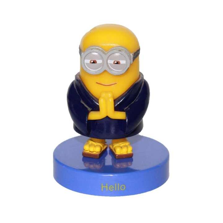 Yellow/Blue Plastic Namaste Minion Toy For Kids
