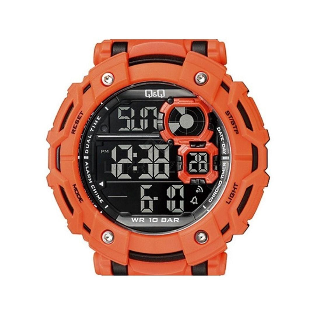 Q&Q M150J004Y By Citizen Orange Resin Digital Watch For Men