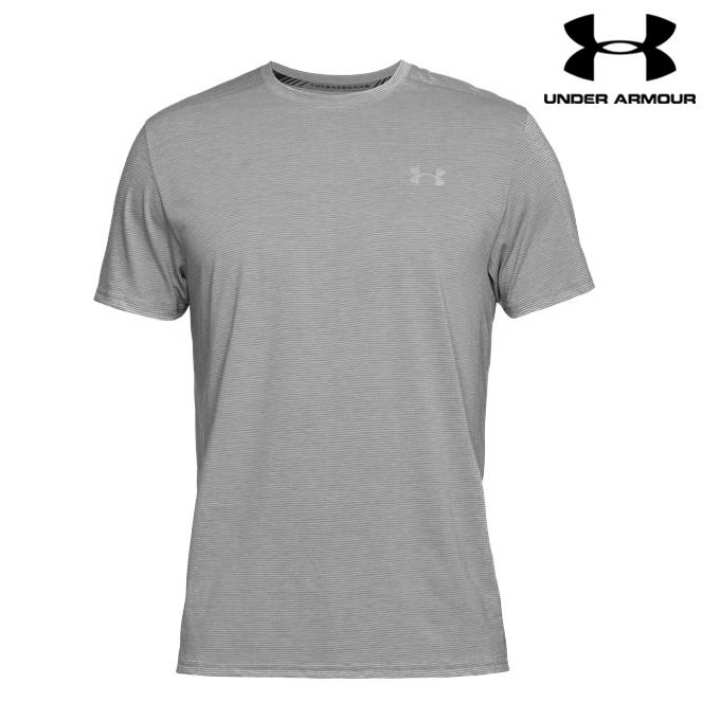 Under Armour Grey Streaker Running Short Sleeve T-Shirt For Men - 1271823-038