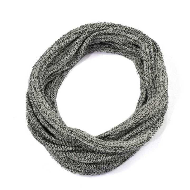 Grey 100% Cotton Half Infinity Magic Headband (Unisex)