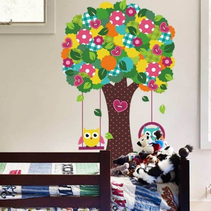 Summer Savings On Witkey Forest Animals Owl Birds Wall Stickers