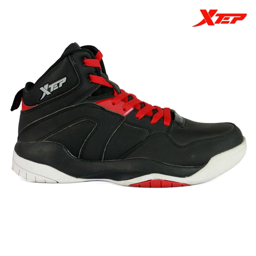 b4ca6cd9e9d0 Xtep 120869 Basketball Shoes for Men -Black Red