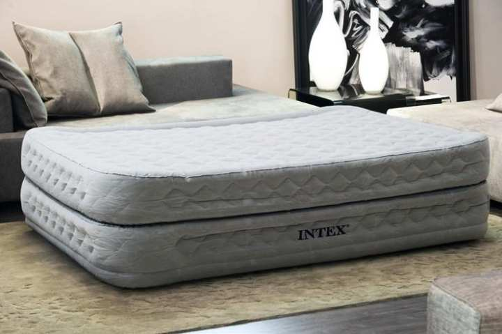 Intex Grey Double Inflatable Mattress Double Air Bed - 64464