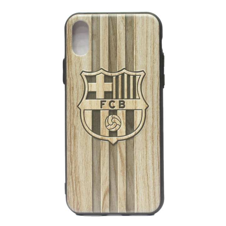 Barcelona Logo Printed Mobile Cover For Iphone 8- (Brown)