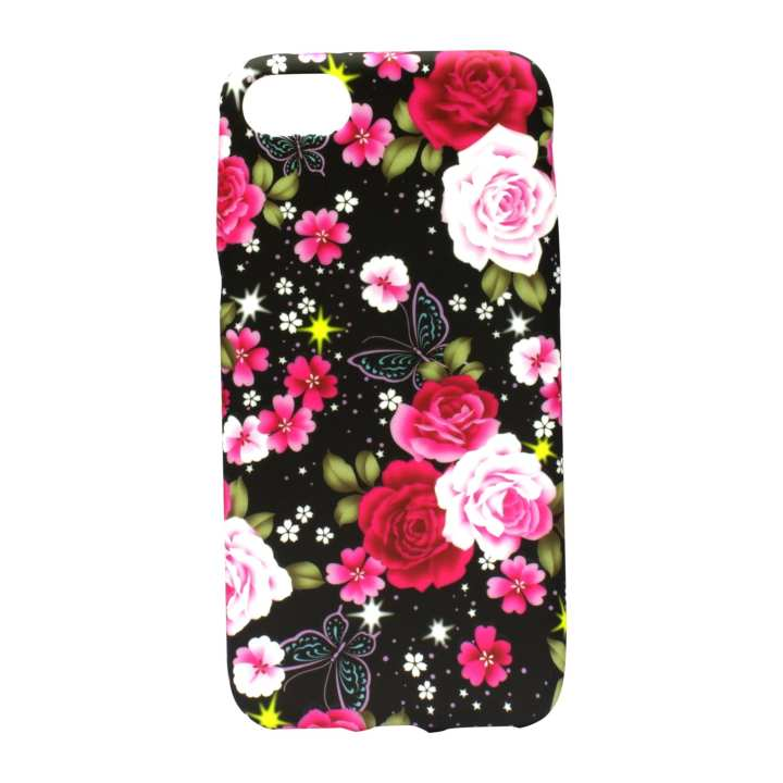 Rose Printed Mobile Cover For Iphone 8 - (Multicolor)
