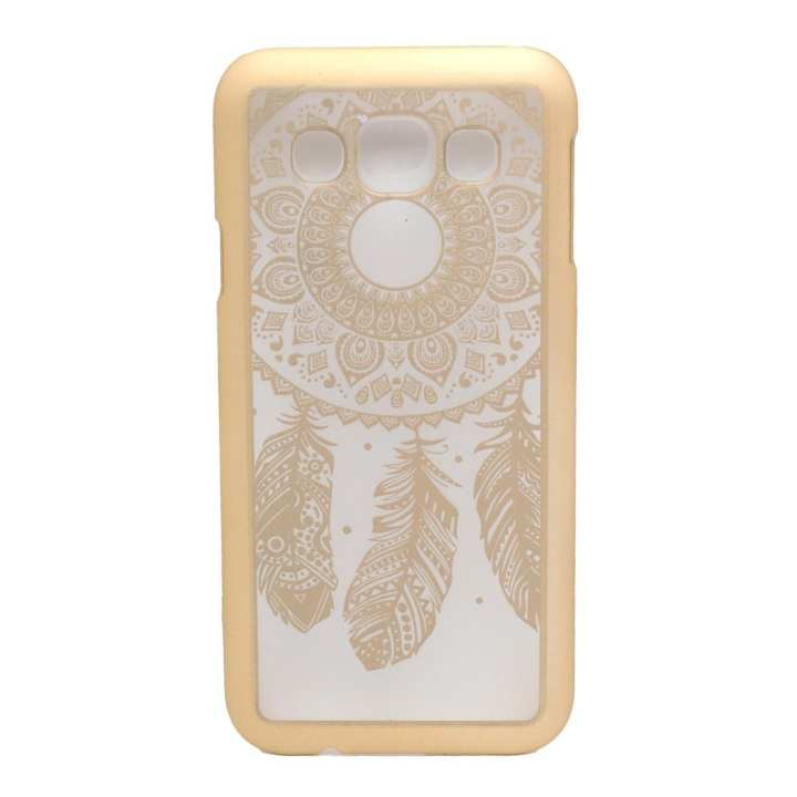 Golden Leaf Print Mobile Case For Samsung E5