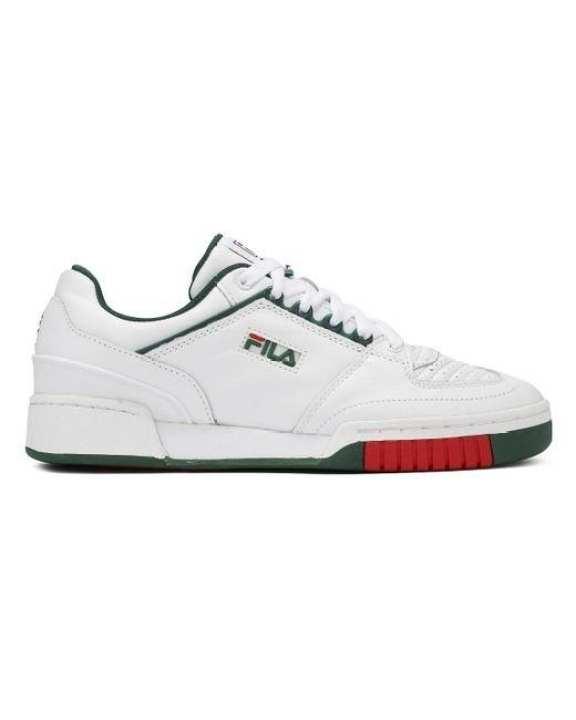 Fila White/Green Targa Sneakers For Men - 1TM00013-124